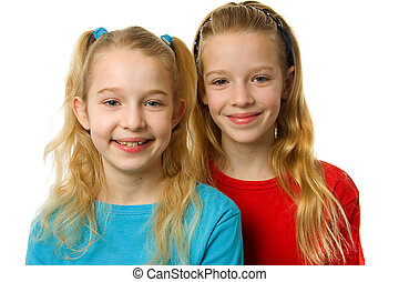 Two young blonde girls