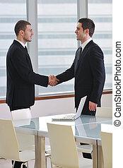 handshake on business meeting