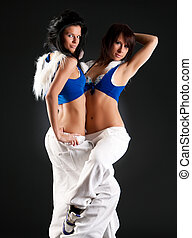 Two young fashion women