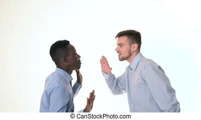 two young guys dancing