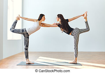 two people yoga positions images and stock photos 1582