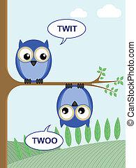 twoo, twit