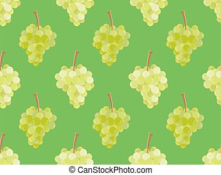 tworzywo, seamless, tło modelują, zielony, wallpaper., wektor, broszury, grona, winogrona, ilustracja, promocyjny