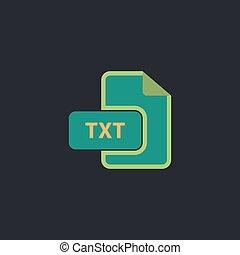 TXT computer symbol - TXT Color vector icon on dark ...