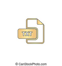 TXT computer symbol - TXT Gold vector icon with black ...