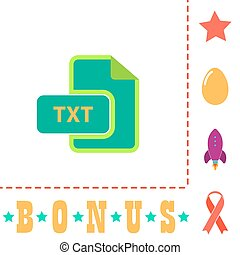 TXT computer symbol - TXT Simple vector button. Flat color ...