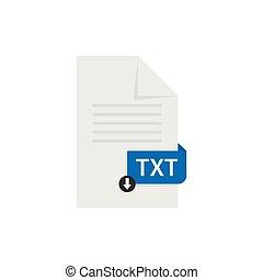 TXT document download file format vector image. TXT file ...