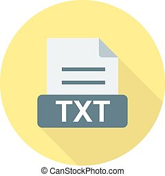 TXT, file, extension icon vector image. Can also be used for...