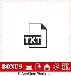 TXT file icon flat