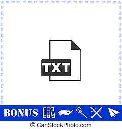 TXT file icon flat. Simple vector symbol and bonus icon