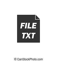 TXT file icon flat