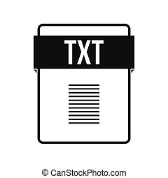 TXT file icon, simple style