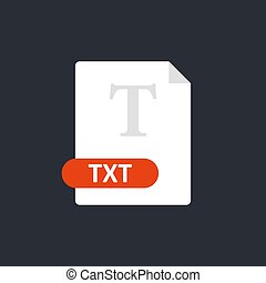 Txt file icon. Text Format file icon. Vector