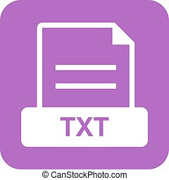 TXT File - TXT, file, extension icon vector image. Can also ...