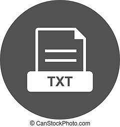 TXT , File - TXT, file, extension icon vector image. Can ...