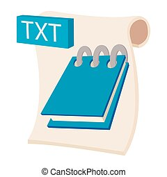 TXT icon, cartoon style