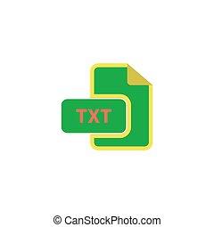 TXT Icon Vector. Flat simple color pictogram