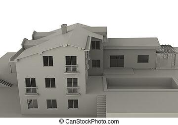 Txtureless house