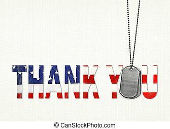 ty, bandera, pies, dziękować, skuwki