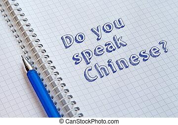 ty, mówić, chinese?