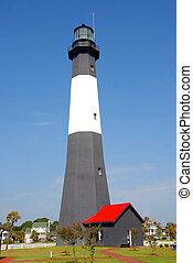 lighthouse photographed at tybee island georgia