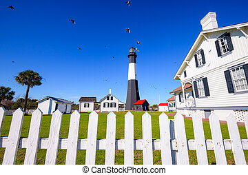Tybee Island Light House of Tybee Island, Georgia, USA.