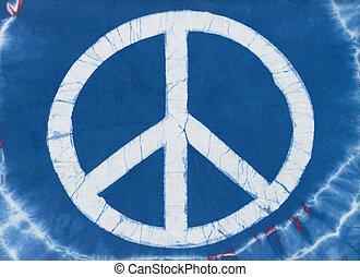 tye, tintura, símbolo paz