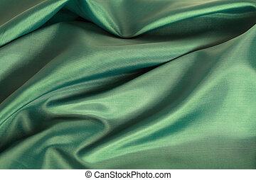 tyg, grön, strukturerad