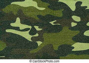 tyg, kamouflage