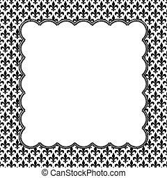 tyg, mönster, Av,  fleur,  embroi, svart, Läsidor, vit, Strukturerad