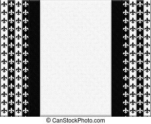 tyg, mönster, Av,  fleur, svart, Läsidor, vit, band, Strukturerad