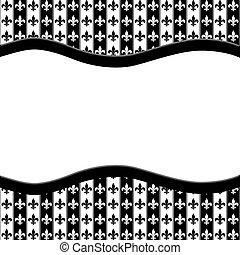 tyg, mönster, Av,  fleur, svart, bakgrund, Läsidor, vit, band, Strukturerad