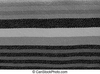 tyg, mönster,  Stripes, svart, bakgrund, vit