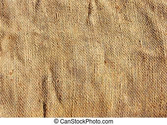 tyg, säckväv, brun