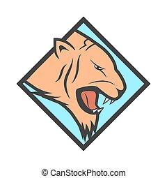 tygrys formują główki, logotype