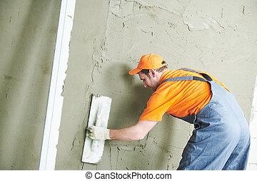 tynk, wall., tynkarz, gładzenie, home., renowacja