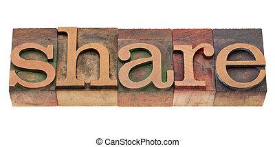 typ, część, słowo, letterpress
