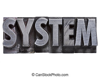 typ, metall, system, ord