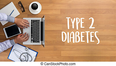 type 2 diabetes doctor a test disease health medical concept