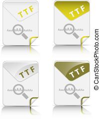 type, bestand, pictogram