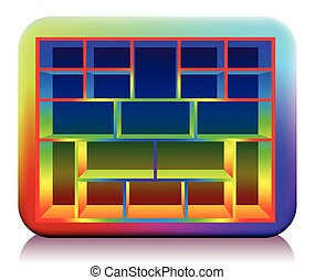 Type Case Colored Rounded Edges - Multicolored type case...