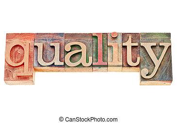 type, mot, letterpress, qualité