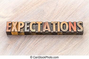 type, résumé, bois, mot, expectations