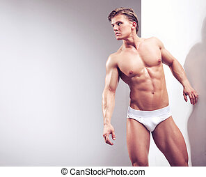 type, studio, musculaire, beau