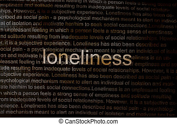 Typed text Loneliness on paper