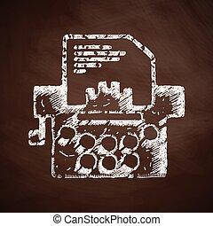 typemachine, pictogram