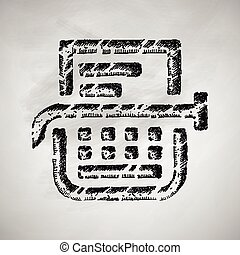 typemachine, pictogram