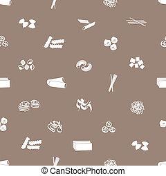 types of pasta food pattern eps10