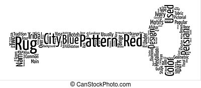 Types Of Persian Rugs text background word cloud concept