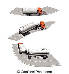 Types of tanks for the transport of dangerous goods.